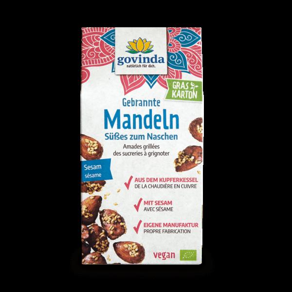 Gebrannte Mandeln mit Sesam