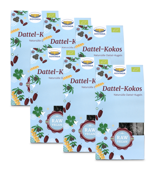 Dattel Kokos Kugeln Sparpack 6x120g